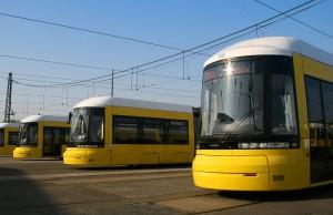 Unidades del tranvía en Berlín